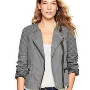 GAP Quilted Moto Jacket